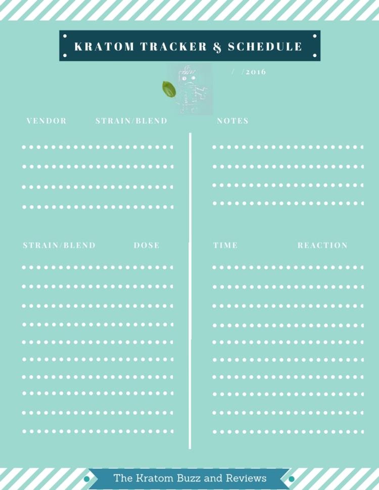 Kratom Tracker & Schedule